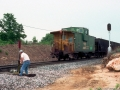 BN_Caboose_10411_Eastbound_Loaded_Coal_Fruitland_TX_05-90